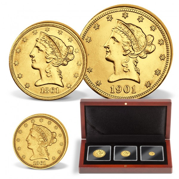 "3er Goldmünzen-Set USA ""Liberty Head"" DE_2718004_1"