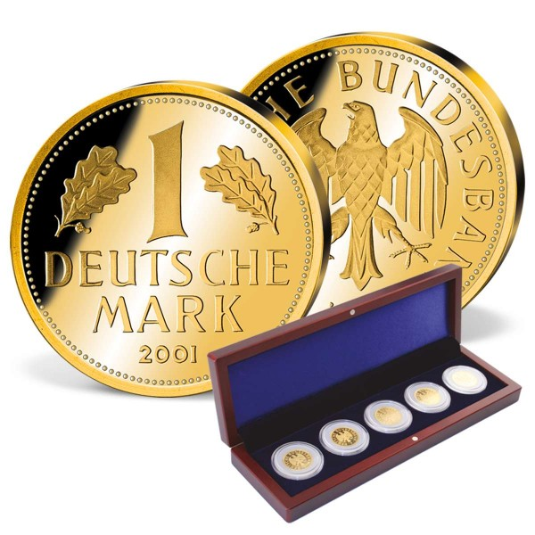"5er Komplett-Set ""Deutsche Mark in Gold"" DE_1550415_1"