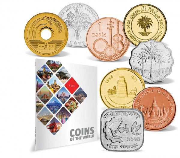 "51er Komplett-Set ""Coins of the World - Asien"" DE_8811007_1"