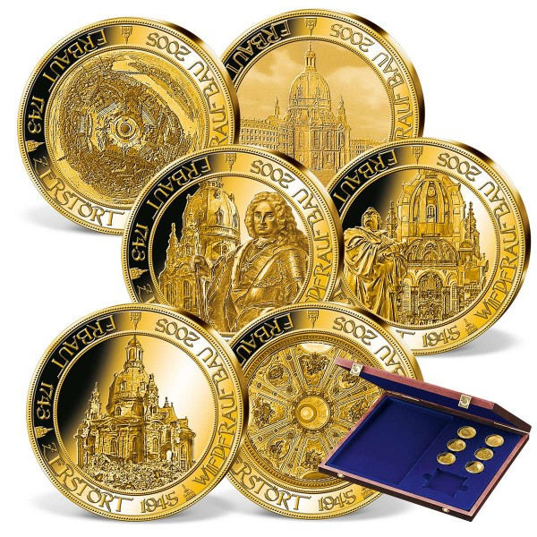 "6-teiliges Komplett-Set ""Frauenkirche"" in Gold DE_9770410_1"