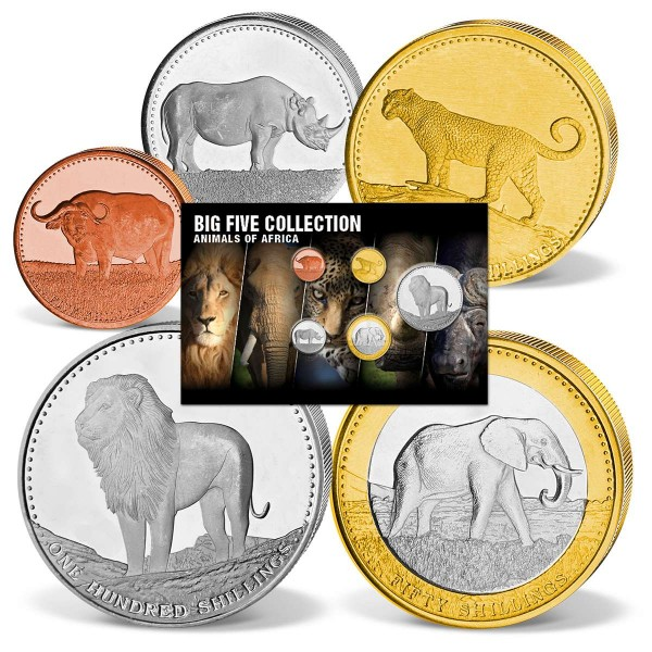 "5er Komplett-Set Shillings ""The Big Five Collection"" DE_8811023_1"