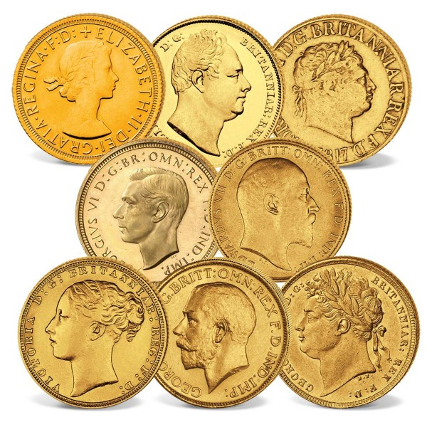 "Goldmünzen-Set ""Sovereigns ab 1817"" DE_2460232_1"