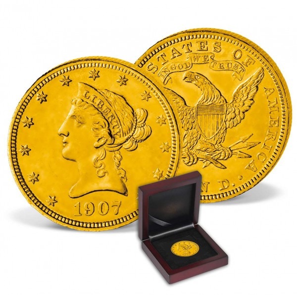 "Goldmünze 10 Dollar USA ""Liberty Head Eagle 1907"" DE_2711464_1"