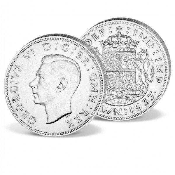 "Silbermünze United Kingdom 1 Crown ""George VI."" 1937 DE_2421106_1"