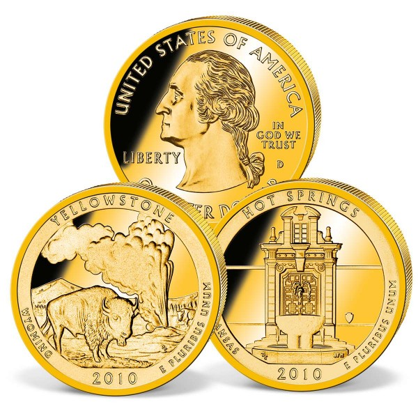 Zweier-Set Quarter Dollars USA - Hot Springs und Yellowstone DE_2540059_1