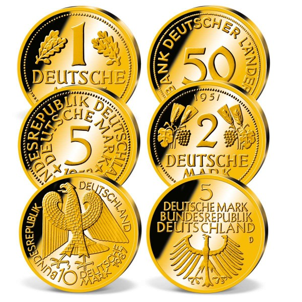 "6er Komplett-Set ""Deutsches Gold 1"" DE_8213047_1"